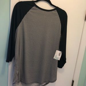 Lularoe NWT randy 2x black white chevron